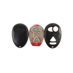 GM Oval Style Keyless Entry Remote Shell and Rubber Pad 4B Trunk