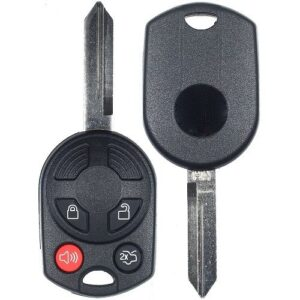 2007 - 2013 Ford Lincoln Mazda Mercury 4 Button Old Style Remote Head Key Shell - H75 Keyway
