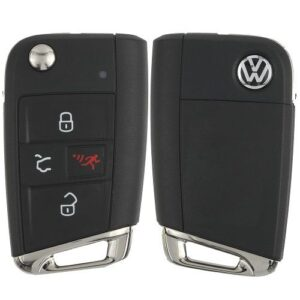 2018 - 2020 Volkswagen Remote Flip Prox Key 5G6 959 752 AN With Comfort Access HU162-T Key-way
