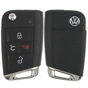 2018 - 2020 Volkswagen Remote Flip Key 5G6 959 752 BM with Comfort Access MQB HU162-T Key-way